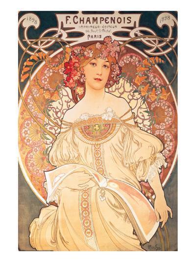 F. Champenois, France, 1898-Alphonse Mucha-Premium Giclee Print