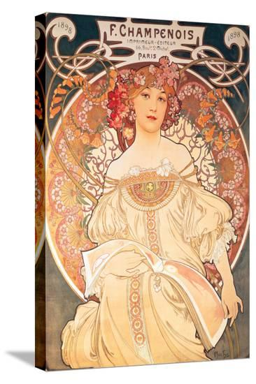 F. Champenois, France, 1898-Alphonse Mucha-Stretched Canvas Print