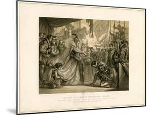 Queen Elizabeth Knighting Drake on Board the Golden Hind..., April 4th 1581 by F Fraenkel