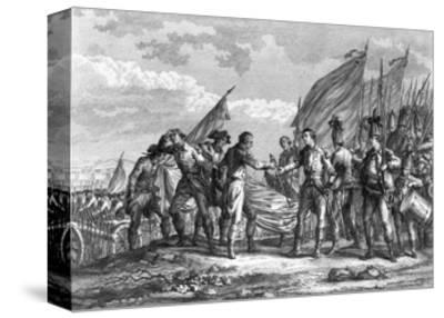 Engraving of the Battle of Saratoga, 1777