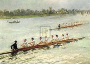 Eights Racing at Putney by F Gueldry