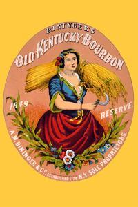 Bininger's Old Kentucky Bourbon by F^ Heppenheimer