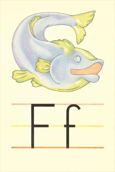 F Is for Fish--Art Print