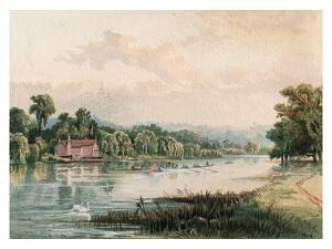 Lake at Virginia Water, 1880 by F Jones
