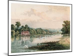Lake at Virginia Water, 1880 by F Jones