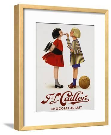 F-L Cailler's Chocolat Au Lait Chocolate Advertisement Poster