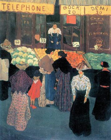 At the Market by F?lix Vallotton