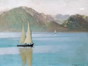 Boat on Lake Geneva, 1892 by F?lix Vallotton