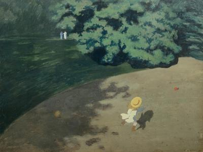 Child Playing with a Ball, 1899 by F?lix Vallotton