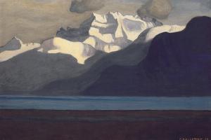 Lac Leman and Les Dents-Du-Midi, 1919 by F?lix Vallotton