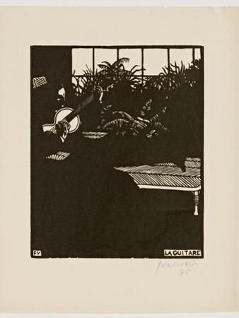 The Guitar, from the Series 'Musical Instruments', V, 1897 by F?lix Vallotton