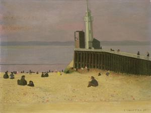 The Jetty at Honfleur, 1920 by F?lix Vallotton