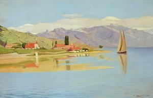 The Port of Pully by F?lix Vallotton
