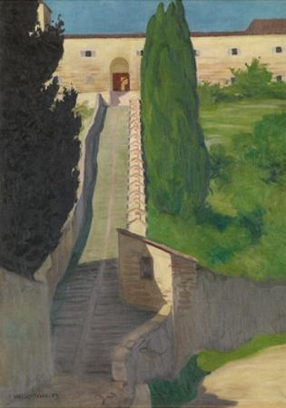 The Steps of the Convent of San Marco, Perugia, 1913 by F?lix Vallotton