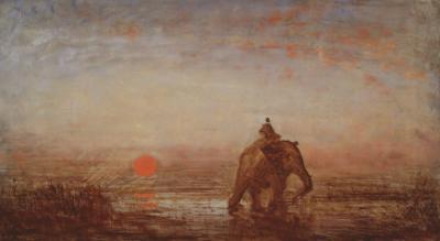 L'éléphant by F?lix Ziem