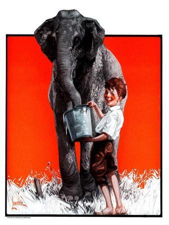 """Watering the Elephant,""July 14, 1923"