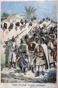 Column of Insurgent Moroccans Taken Prisoner at Tadla by Sultan Abdul-Hafiz's Army, 1897 by F Meaulle