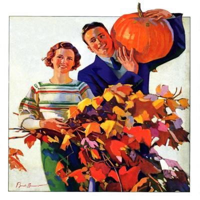 """Couple in Fall,""October 1, 1935"