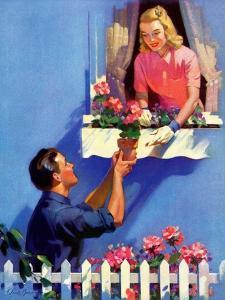 """""""Planting the Windowbox,""""May 1, 1939 by F. Sands Brunner"""