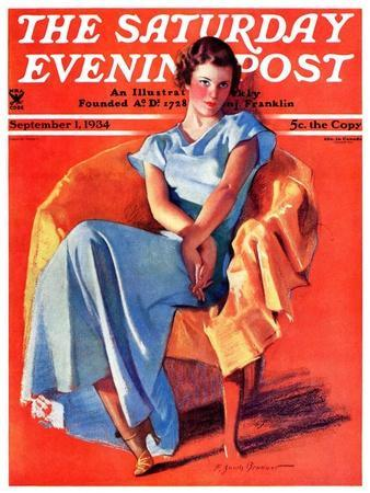 """Woman in Chair,"" Saturday Evening Post Cover, September 1, 1934"