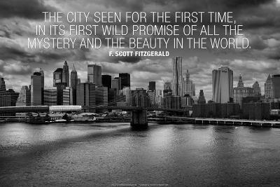 F. Scott Fitzgerald New York Quote Plastic Sign--Plastic Sign