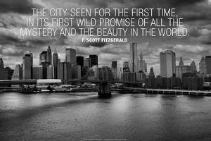 F. Scott Fitzgerald New York Quote Poster