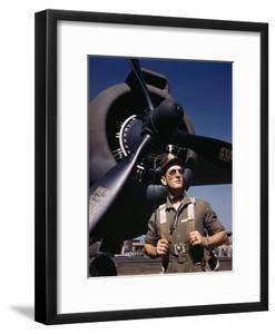 F.W. Hunter, Army Test Pilot, Douglas Aircraft Company Plant at Long Beach, Calif. October 1942