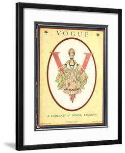 Vogue Cover - February 1917 by F.x. Leyendecker