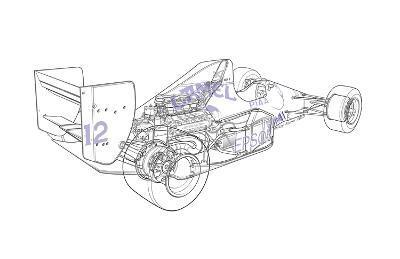 F1 Judd - Camel-Roy Scorer-Giclee Print