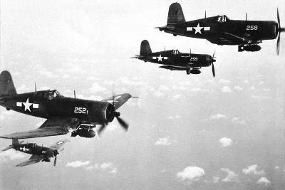 F4U Corsair Planes, Us Airforce, Used from 1943--Photo