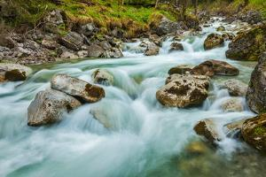 Cascade of Kuhfluchtwasserfall. Long Exposure for Motion Blur. Farchant, Garmisch-Partenkirchen, Ba by f9photos