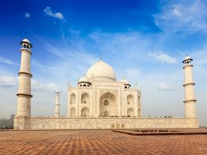 Indian Famous Landmark - India Travel Background Taj Mahal. Agra, Uttar Pradesh, India by f9photos