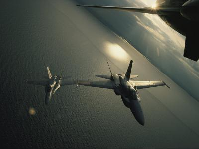 FA-18 Navy Jets in Flight over the Chesapeake Bay-Robert Madden-Photographic Print