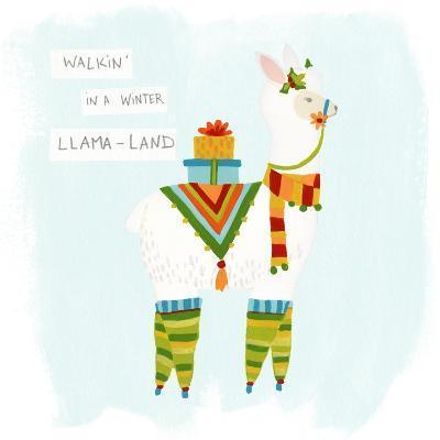 Fa-la-la-la Llama II-June Vess-Art Print