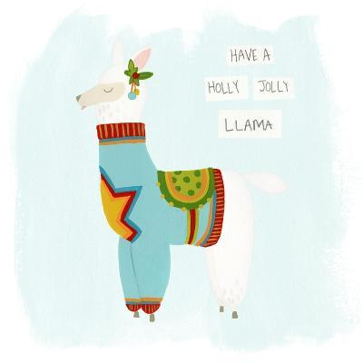 Fa-la-la-la Llama IV-June Vess-Art Print