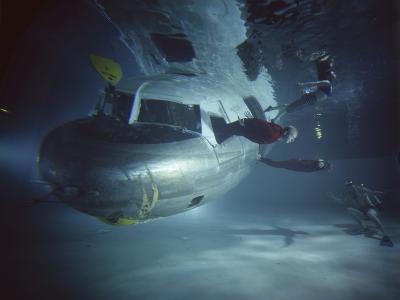 Faa Underwater Evacuation Drill at the Civil Aeromedical Center, Oklahoma City, Oklahoma, 1966-Yale Joel-Photographic Print
