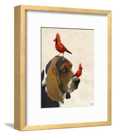 Basset Hound and Birds