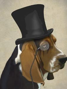 Basset Hound, Formal Hound and Hat by Fab Funky