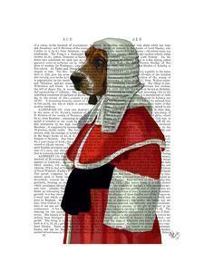Basset Hound Judge Portrait by Fab Funky