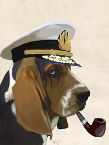 Basset Hound Sea Dog by Fab Funky