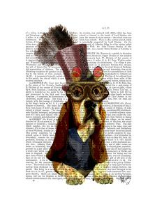 Basset Hound Steampunk Top Hat Goggles by Fab Funky