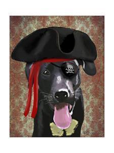 Black Labrador Pirate Dog by Fab Funky