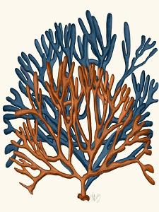 Blue and Orange Corals a by Fab Funky
