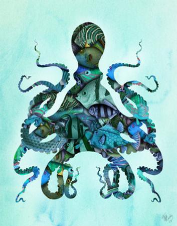 Blue Fishy Octopus by Fab Funky