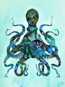 Blue Fishy Octopus by Fab Funky