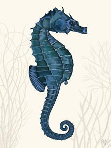 Blue Seahorses on Cream a by Fab Funky