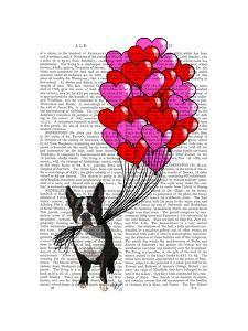 Boston Terrier And Balloons by Fab Funky