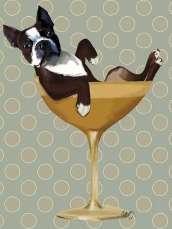 Boston Terrier in Cocktail Glass by Fab Funky