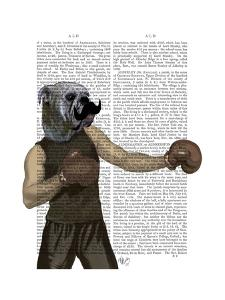 Boxing Bulldog Portrait by Fab Funky