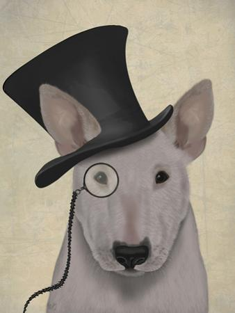 Bull Terrier, Formal Hound and Hat by Fab Funky